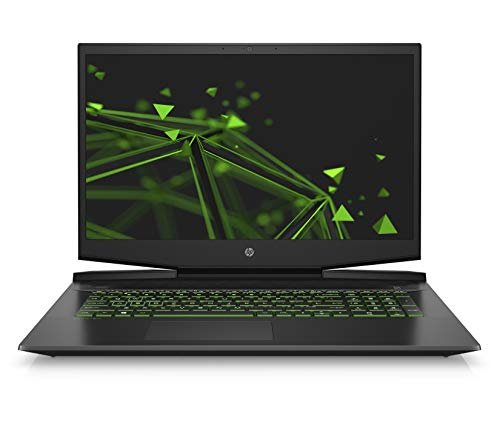 HP Pavilion Gaming 17-cd0000ng (17,3 Zoll / FHD IPS 60Hz) Laptop (Intel Core i7-9750H, 16GB DDR4 RAM, 32GB Intel Optane, 512GB SSD, Nvidia GeForce GTX 1650 4GB GDDR5, Windows 10) schwarz/grün