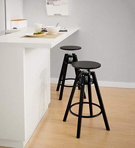 PIVFEDQX Stools Bar Stool High Dining Chair Black Solid Wood Bar Chair Breakfast Kitchen Home