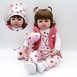 ZIY IUI Realistas Bebé Reborn Muñecas 24 Pulgadas 60 cm Suave Vinilo de Silicona Bebe Reborn niña Recién Nacido Juguetes para niños Mayores de 3 años