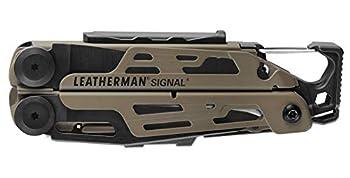Leatherman Signal - Pince multifonctions conçue pour l?aventure, avec 19 outils dont un allume-feu, un marteau, un sifflet d?urgence et bien plus; fabriqué aux Etats-Unis, couleur brun coyote