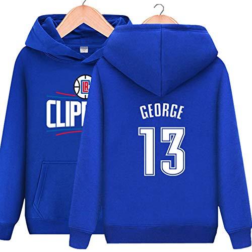 Jersey de baloncesto con capucha Los Angeles Clippers #13 Paul George Thicken sudadera con capucha, hombres mujeres espesar abrigo deportivo