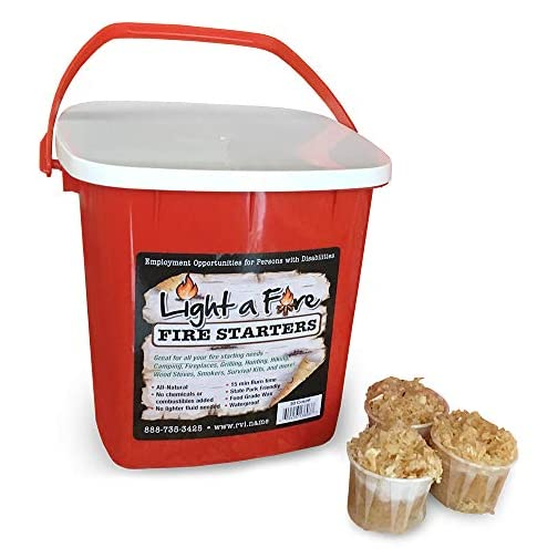 Light-A-Fire 100% All Natural Fire Starters.15-20 Minute Burn for BBQ, campfire, charcoal, fire pit, wood & pellet stove… 3