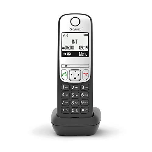 Gigaset A690HX Digitales schnurloses DECT-Telefon für Router, silberfarben / Schwarz