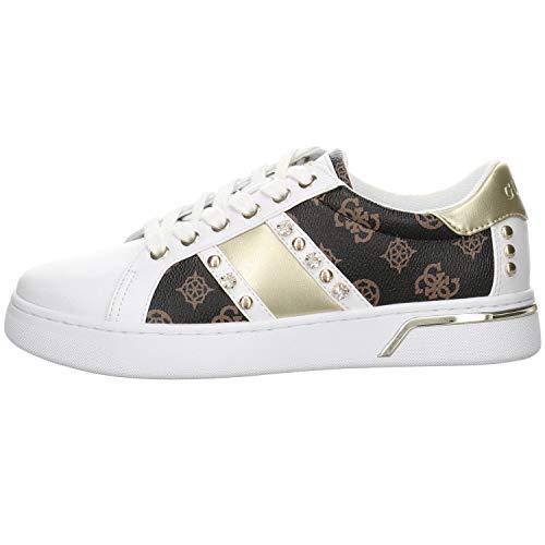 Guess Ricena Sneakers Bianche/Marrone da Donna-UK 6 / EU 39