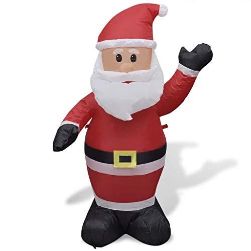 Babbo Natale gonfiabile altezza 120 cm in poliestere con 4 luci LED