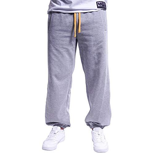 Wu Wear PYN Sweatpant, Pantalones de Chándal, Wu Tang Clan Moda Callejera Urbana, Hip Hop, Hombres, Gris