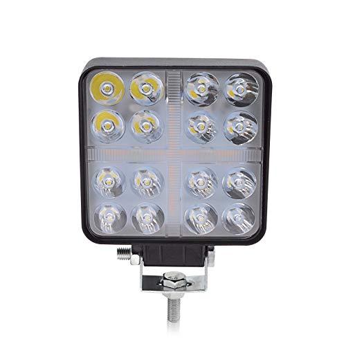 BeiLan Haz combinado Focos de Coche LED, 48W 12V/24V Faros Led Trabajo Proyectores Luz de carretera Luz de trabajo auxiliar para trabajo fuera de carretera Barra de luz LED para camión, tracto