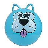 XINQIAN 45cm Bola de Cuerno Grande Bola de Juguete para niños Bola de Rebote Bola de Rebote Inflable de Dibujos Animados Azul