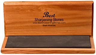 Arkansas Knife Sharpening Stone - Black Surgical 6 x 2 inch
