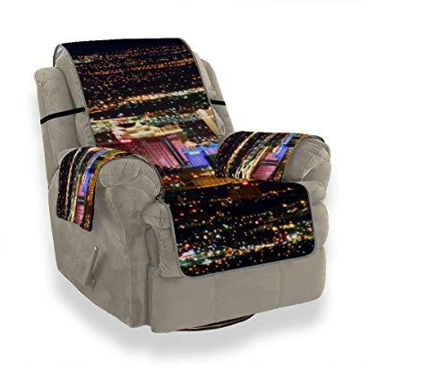 JOCHUAN Las Vegas Avenue Nevada USA Nachtsofa Chaise Cover Klappstuhl Schonbezug Gepaßter Stuhl Schonbezug Möbelbeschützer Für Haustiere, Kinder, Katzen, Sofa