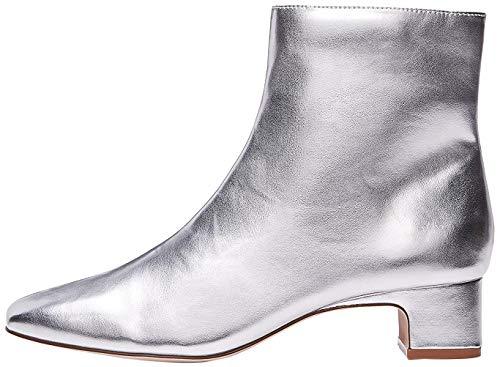 find. Damen Stiefeletten mit Mittelnaht, Silber (Silver Silver), 41 EU