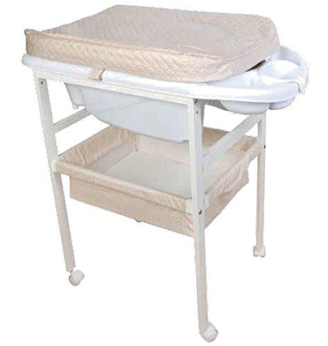 Bañera de madera para bebé vichy...