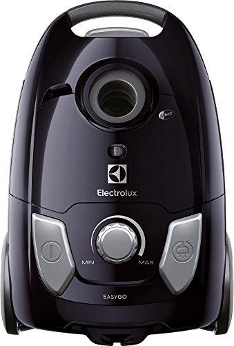 Electrolux EEG42EB EasyGo Aspirapolvere con Sacco, Hygiene Filter 12, Spazzola Parquet, 650 W, 3.5 Litri, Nero Mogano