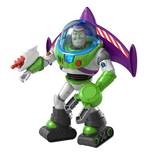 Toy Story Disney Pixar Ultimate Space Ranger Buzz Lightyear Figure in Movie Scale with Lights, Sounds, Astro Gear Storytelling Accessories Jet Pack, Blaster, Claw, Moon Boots, Helmet