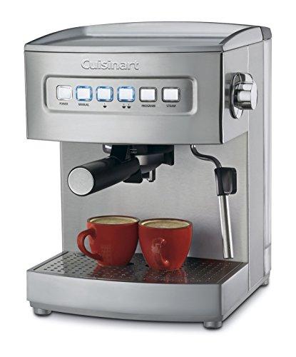 "Cuisinart EM-200NP1 Programmable 15-Bar Espresso Maker, 12.8""(L) x 9.25""(W) x 10.63""(H), Stainless Steel"