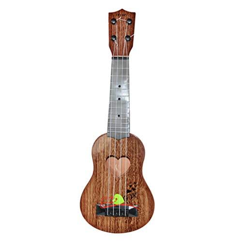 Happy Event Klassische Ukulele Gitarre für Anfänger Pädagogisches Musikinstrument Spielzeug für Kinder | Beginner Classical Ukulele Guitar Educational Musical Instrument Toy (Braun)