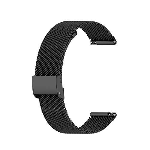 MRLINBAB For Huawei GT / GT2 46mm / 46mm Galaxy Reloj/Fossil Gen 5 Carlyle de 46 mm de Acero Inoxidable de Malla de Reloj de Pulsera Correa 22MM (Negro) (Color : Black)