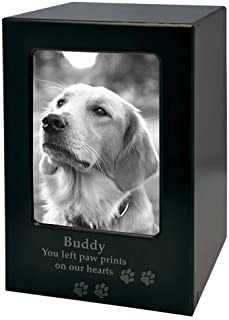 Engravable Pet Memorial Photo Cremation MDF Urn
