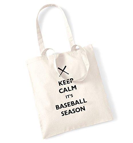Keep calm its baseball season tote bag