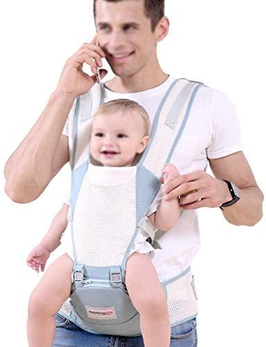YZHM Transpirable Asiento de la Cadera portabebé ergonómico del bebé Algodón Puro y fácil de 0 a 3 años