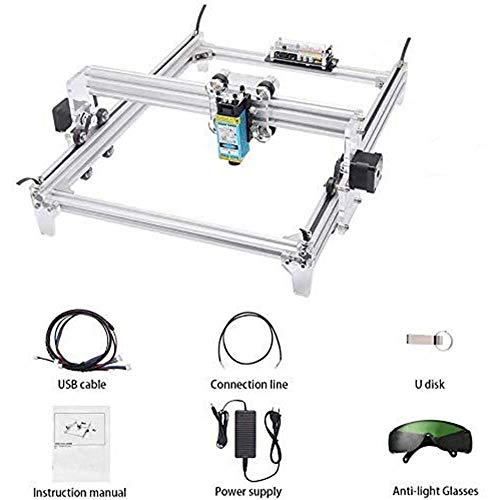 TOPQSC Carving Machine DIY Kit,Desktop 12V USB Laser Engraver Carver, Engraving Area 65X50 mm, Adjustable Laser Power Printer Carving & Cutting with Protective Glasses (65x50cm / 10000)