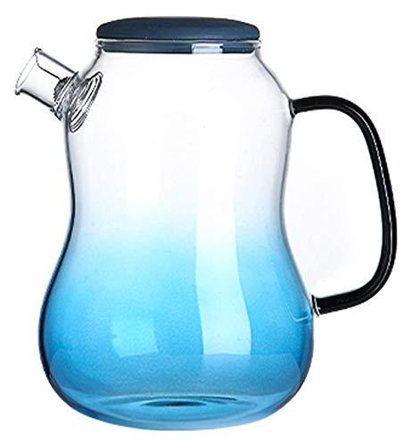 Tetera de vidrio Tetera de vidrio, hervidor de vidrio, filtro resistente al calor, acero inoxidable, transparente puede calentarse mediante llamas abiertas / eléctricas Tetera transparente