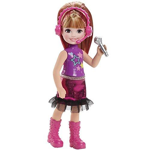 Barbie CKB71 - Eine Prinzessin im Rockstar Camp - Chelsea Puppe pink mit Mikrofon