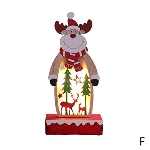 Kompassswc Weihnachtsdeko LED Tischbeleuchtung Tischdeko stehend Figur batteriebetrieben Weihnachtsbeleuchtung für Kinderzimmer Schlafzimmer Restaurant Kinder Geschenk (Hirsch, Große:24x10.5cm)