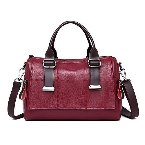 Pu Frauen Tasche Einfache Mutter Tasche Koreanischen Stil Einzelne Schulter Geschleudert Große Kapazität Trend Retro-Handtasche