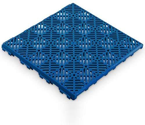 Antihumedades Pack 48 uds losetas ventiladas Suelo de terraza, Piscinas, remolques (30x30cm) - Color Azul