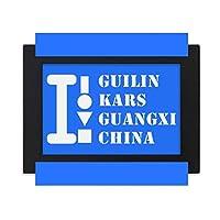 広西桂林 デスクトップフォトフレーム画像ブラックは、芸術絵画7 x 9インチ