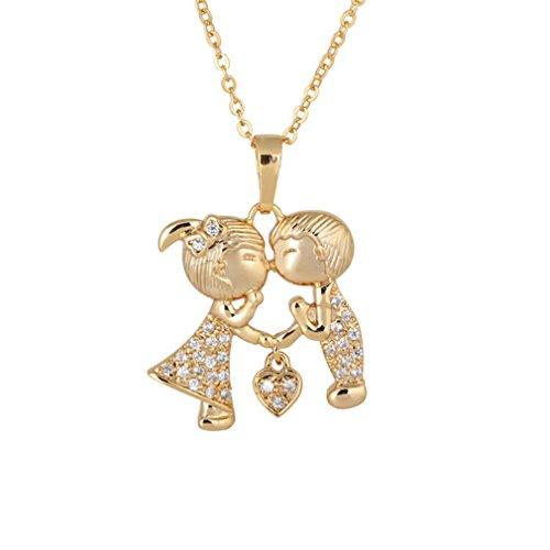 YAZILIND La Cadena del Collar de Compromiso Popular 18K plateó Pendiente de la Boda con el Regalo de la joyería Blanca Zircon