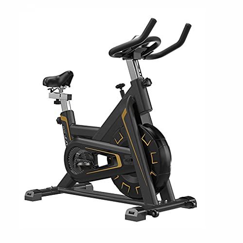 CGBF-Cyclette da Casa Ciclismo Indoor Fitness Spinning Bike per Allenamento A Casa,Bicicletta da Allenamento Fissa con Manubrio Regolabile con Display LCD con Volano da 5Kg,d'oro