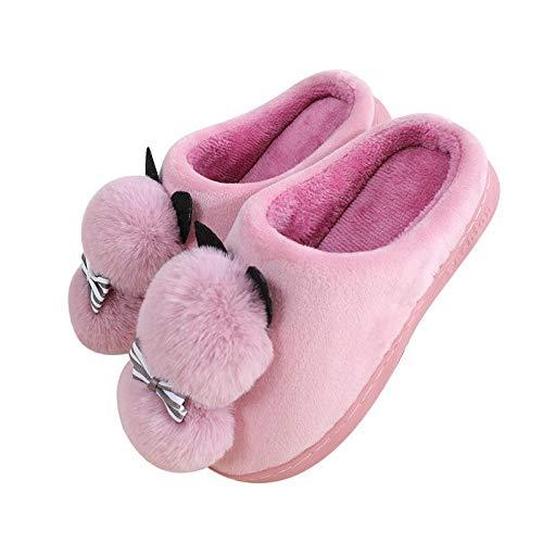 Hbest Eltern-Kind passende Schuhe, Cartoon niedliche tierische Hausschuhe, Baumwolle, Komfort Plüsch rutschfeste Indoor-Schuhe 1 240