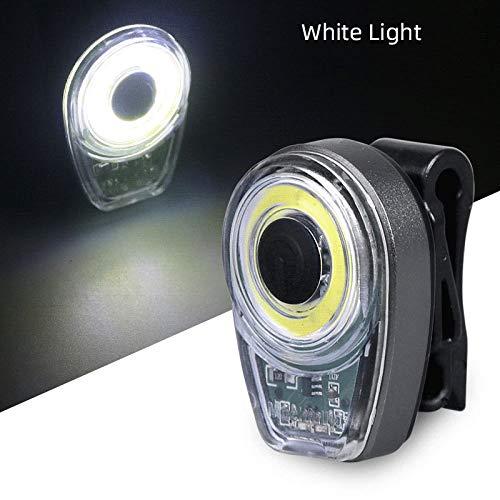 Rücklicht Fahrrad,Led Fahrrad Rücklicht Rücklicht Fahrrad Lampe USB Aufladbaren Runde Radfahren Sicherheit Licht Fahrrad Fahrrad Zubehör Ausrüstung, Weißes Licht Diffusor Für Reithelm Safety W
