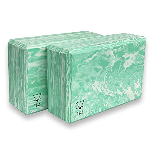Yogi-Bare Yoga Blocco - Resistente/Firm/Leggero Schiuma Eva Supporto Blocco - Verde x Confezione da 2
