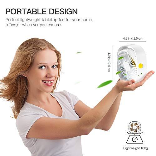 RATEL .5 cm Mini-Schreibtisch Ventilator mit 1