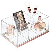 mDesign Organizador de maquillaje – Caja organizadora biselada con 6...