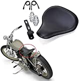 Motorcycle Leather Cushion Spring Solo Seat for Harley...