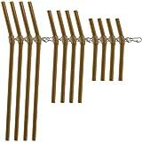 Croch Karpfen Zubehör Anti Tangle Abstandshalter 12 Stück Set mit Wirbel 7cm 10cm 15cm für Karpfen Angeln