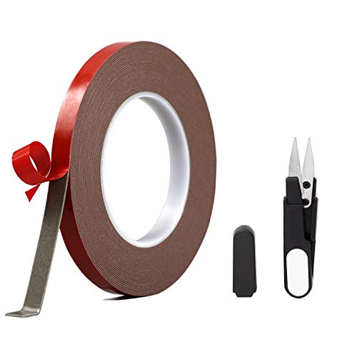 Heavy Duty Double Sided Mounting Tape, AWSOM LED Strip Lights Adhesive Tape Waterproof,Removable Foam Tape Suit Wall Mounting,Car Mounting,Office Tape(10Metres/Pack)