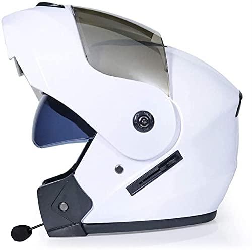 Bluetooth Casco de Moto, Modular Integral Cascos de Motocicleta Flip Up Casco de Moto de Carreras Motocicleta Scooter Casco para Adultos Hombres Mujeres,ECE Homologado (Color : 3, Size : XL)