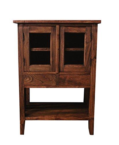 "NES Furniture nes10146 34"" Fine Handcrafted Furniture Solid Teak Wood Maria Bar Cabinet"