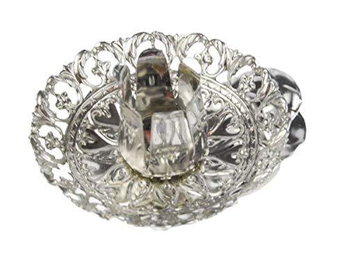 hdg Baumkerzenhalter Vintage Clip 8 er Set Made in Germany, Farbe:Silber