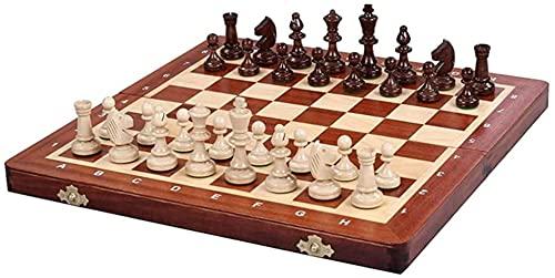 DZCGTP Juego de ajedrez Juego de ajedrez de Madera Tablero Internacional de...