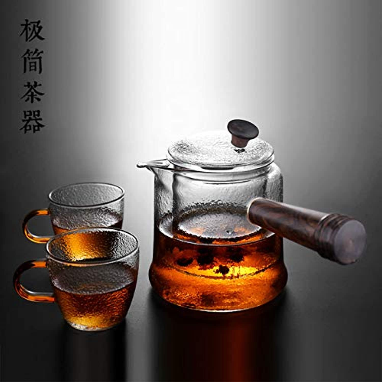 ROKTONG Glass Teapot, Teapot, Electric Ceramic Stove, Steaming Teapot, Filter Tea, Heat-Resistant High-Temperature Tea, B