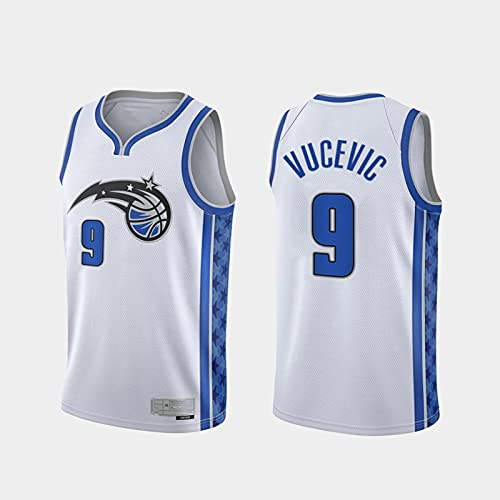 TGSCX Jerseys de Baloncesto de los Hombres NBA Orlando Magic 9# Nikola Vucevic Classic Baloncesto Sportswear Flojo Comfort Chalecos Tops Camisetas sin Mangas,XL