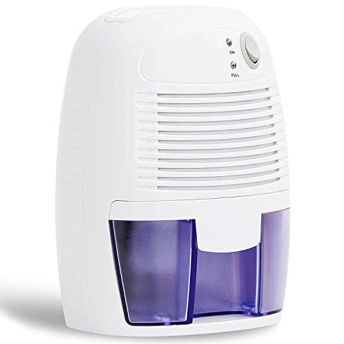 electric dehumidifiers ZenStyle Electric Mini Dehumidifier with Auto Shut-Off, 1500 Cubic Feet, Portable and Safe Dehumidifiers for Bedroom, Bathroom, Wardrobes, Bookcases Basement, Kitchen, Garage, etc