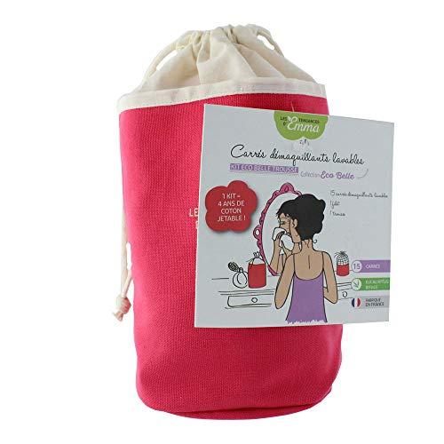 Les Tendances D'emma - Kit Eco Belle Trousse Rose Eucalyptus 15 Carres Demaquillants Les Tendances D emma