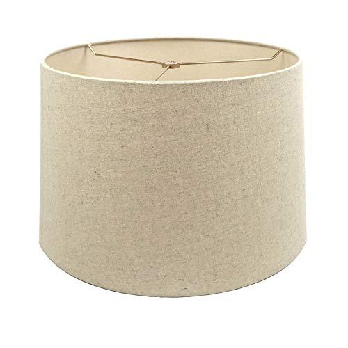 Mestar Oatmeal Fabric Hardback Drum Lampshade (Spider) (12x14x10)